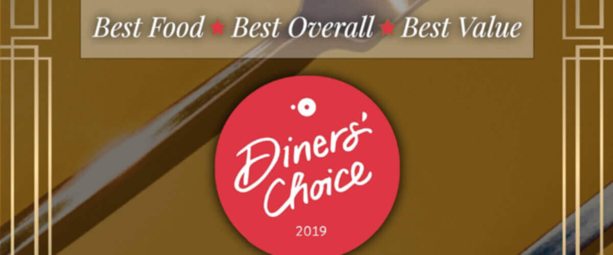 OpenTable - 2019 Diners' Choice Award Winner - Best Food - Best Overall - Best Value